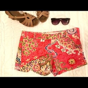 J. Crew Shorts — Size 6 — Multicolor Flower Print